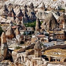 village in stones, cappadocia, turkey