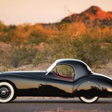 jaguar roadster from 1954