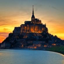 mont saint-Michel castle, france