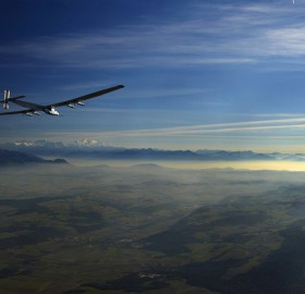 solar-Powered aircraft test flight