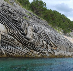 strange rock formation, norway