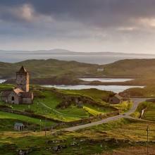 15th-Century Church on Isle of Lewis, Scotland