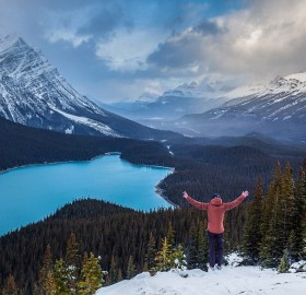 peyto lake in canada`s banff national park