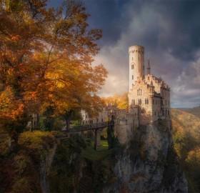 stunning scenery around lichtenstein castle
