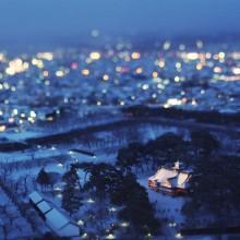 Tilt-Shift Photo of Hakodate, Japan