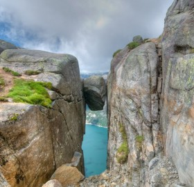A Rock In The Kjerag Mountain, Norway