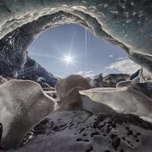 Ice Cave Inside Glacier, Iceland