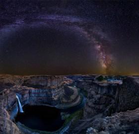 Milky Way Over Palouse Falls, Washington