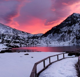 Pure Pink Morning In The French Pyrénées
