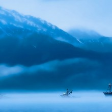 Ships in Clouds, Alaska