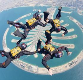 Skydiving Over Palm Jumeirah Dubai