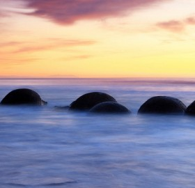 Spherical Boulders, New Zealand