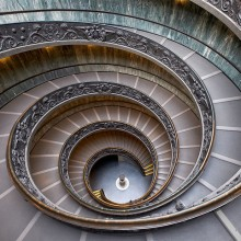 Stairs Inside Vatican Museum