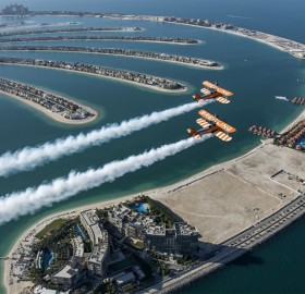 1940's Airplanes Over Palm Jumeirah, Dubai