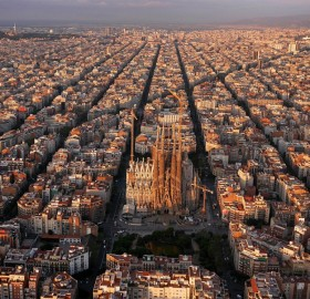 Aerial View Of Wonderful Barcelona