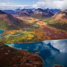 Aerial View On Chikuminuk Lake, Alaska
