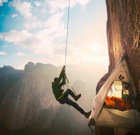 Camping At El Capitan's Dawn Wall, Yosemite National Park