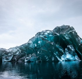 Flipped Iceberg In Antarctica