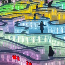 Ice Maze At The Harbin International Ice And Snow Festival, China