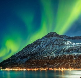 Night In The Town Seyðisfjörður, Iceland