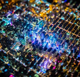 Tilt-Shift Of New York City At Night