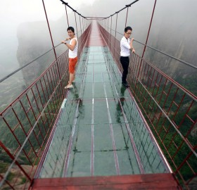 Transparent Bridge in China