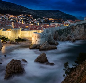 A View At Dubrovnik At Night, Croatia