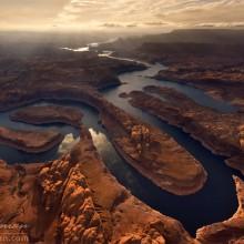 Aerial View On Glen Canyon, Colorado