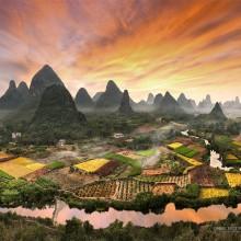 Colors Of Zhouzhai Village, China