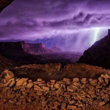 Lightning Storm Over Canyons, Utah