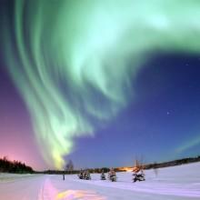 Northern Lights Over Bear Lake, Alaska