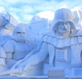 Star Wars Snow Sculpture, Japan