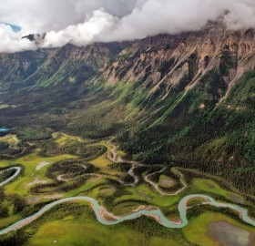 Toad River Valley In British Columbia, Canada