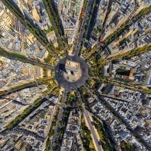 Arc De Triomphe From Above, Paris