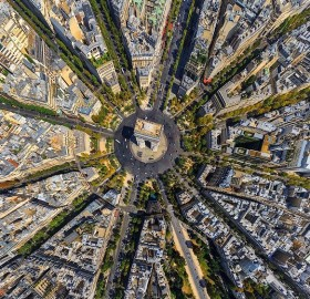 Arc De Triomphe From Above, Paris