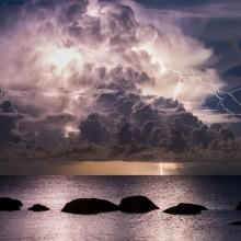 Epic Thunderstorm Over Vergi Port, Estonia