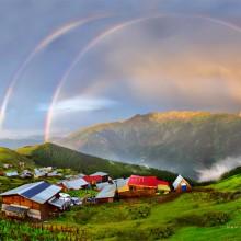 Rainbow Over Karadeniz Village, Turkey