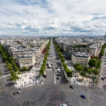 View From The Arc De Triomphe, Paris