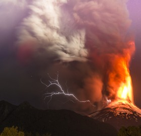 Villarrica Volcano Eruption In Chile