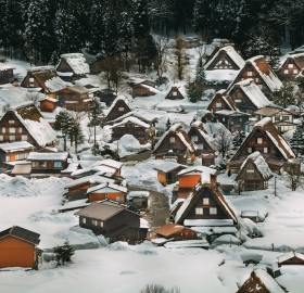 Winter Wonderland In Shirakawa Village, Japan