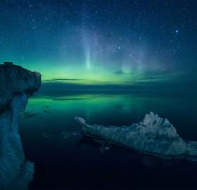 Aurora Borealis Over Lake Ladoga, Russia
