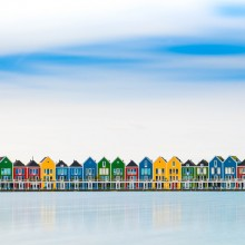Colorful Houses Of Houten, Holland