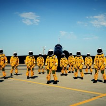 Lockheed U-2 Pilots In Full Equipment