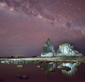Milky Way At Sawarna Beach, Indonesia