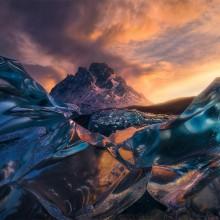 Sunrise Below Crystal Icebergs, Chile