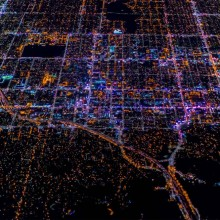 Los Angeles At Night From Above