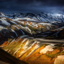 Shadows And Lights Of Iceland Mountains