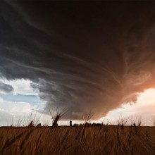 A Huge Storm Cloud Twists, Nebraska