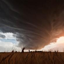 A Huge Storm Cloud Twists, Nebraska