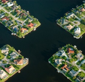 Cape Coral From Above, Florida
